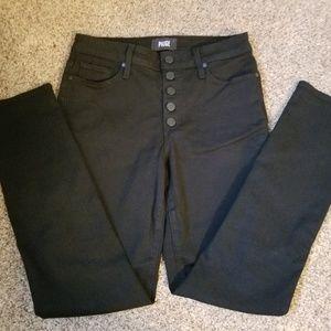 Paige Black High Waisted Skinny Jeans